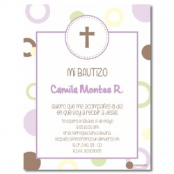 b0023 B Blue - Invitations Baptism