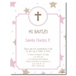 b0024 B Blue - Invitations Baptism