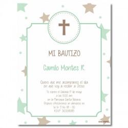 b0024 B Pink - Invitations Baptism
