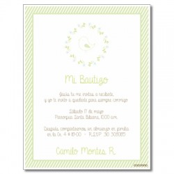 b0024 B Green - Invitations Baptism