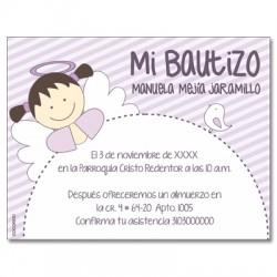 b0026 Violeta - Invitaciones - Bautizo
