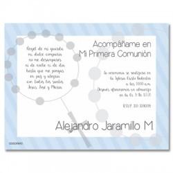 b0020 C Azul - Invitaciones Primera Comunion