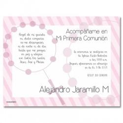 b0020 C rosado - Invitaciones Primera Comunion