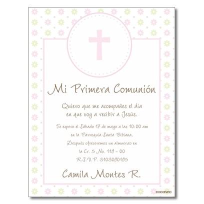 b0022 C - Invitaciones Primera Comunion