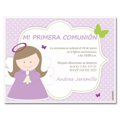 Invitaciones de primera comunion