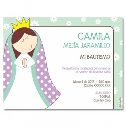 b0040 B  - Invitaciones - Bautizo