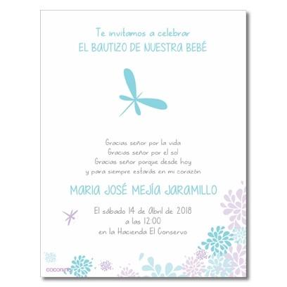 b0061 B - Invitaciones - Bautizo