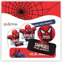 vc0017 - Kit Marca tus cosas - Spiderman
