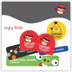vc0019 - Kit Marca tus cosas - Angry Birds