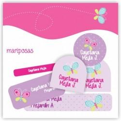 vc0021 - Kit Marca tus cosas - Mariposas