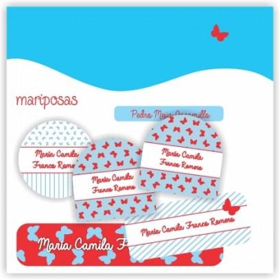 vc0025 - Kit Marca tus cosas - Mariposas