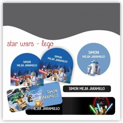 vc0028 - Kit Marca tus cosas - Star Wars