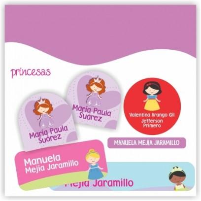 vc0030 - Kit Marca tus cosas - Princesas