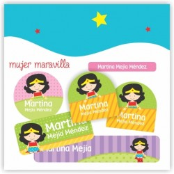 vc0034 - Kit Marca tus cosas - Mujer Maravilla