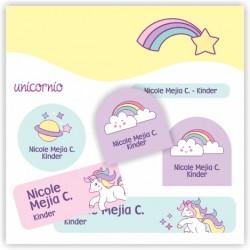 vc0035 - Kit Marca tus cosas - Unicornio