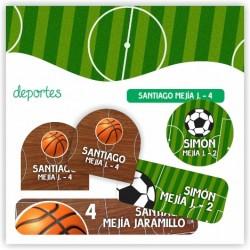 vc0036 - Kit Marca tus cosas - Deportes