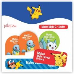 vc0037 - Kit Marca tus cosas - Pikachu