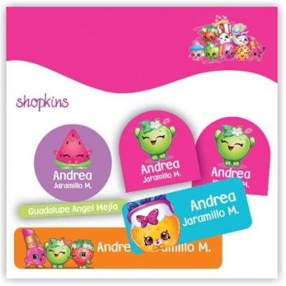 vc0039 - Kit Marca tus cosas - Shopkins