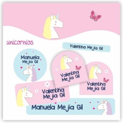 vc0040 - Kit Marca tus cosas - Unicornios