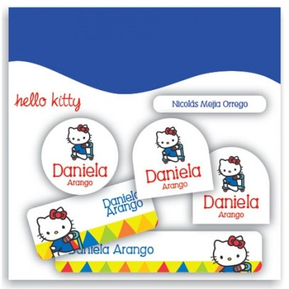 vc0047 - Kit Marca tus cosas - Hello Kitty