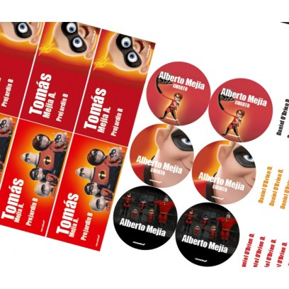 KE0194 - Kit Escolar - Increibles