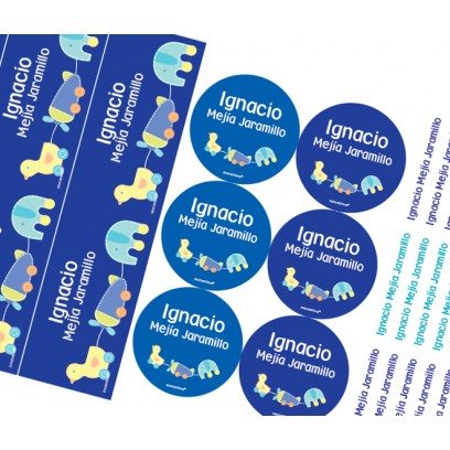 KE0231 azul - Kit Escolar Pato