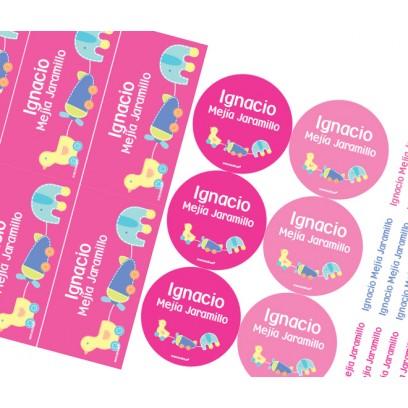 KE0231 rosado - Kit Escolar Pato