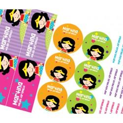 KE0239 - Kit Escolar Mujer Maravilla
