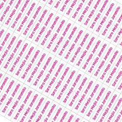 Etiquetas autoadhesivas para lápices - EAL0002 Fucsia