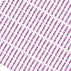 Etiquetas autoadhesivas para lápices - EAL0003 Violeta