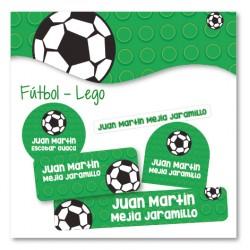 vc0056 - Kit Marca tus cosas - Futbol Lego