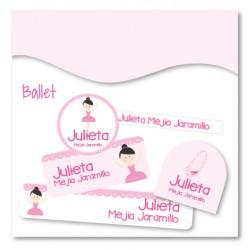 vc0059 - Kit Marca tus cosas - Ballet