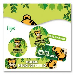 vc0061 - Kit Marca tus cosas - Tigre