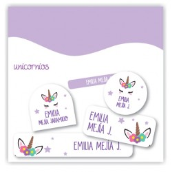 vc0064 Violeta - Kit Marca tus cosas - Unicornio